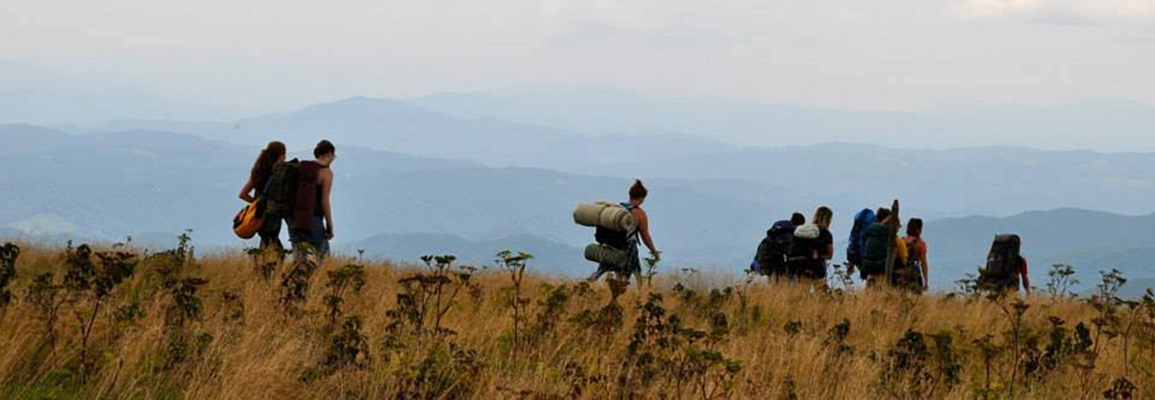 Watauga Residential College students on a backpacking trip