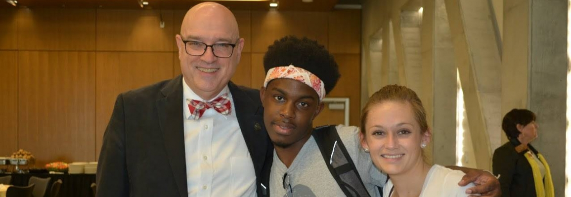 WRC students with Clark